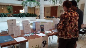 AAUW Table at the NC Legislature for the 2015 Women's Advocacy Day