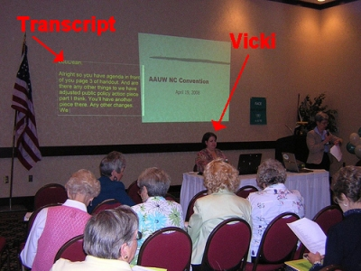 Captioning the AAUW NC Convention