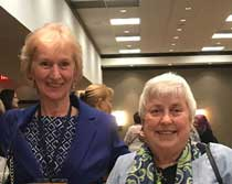 Cherrie Wheaton and Jane Terwillegar, AAUW NC Co-Presidents for 2017-2019
