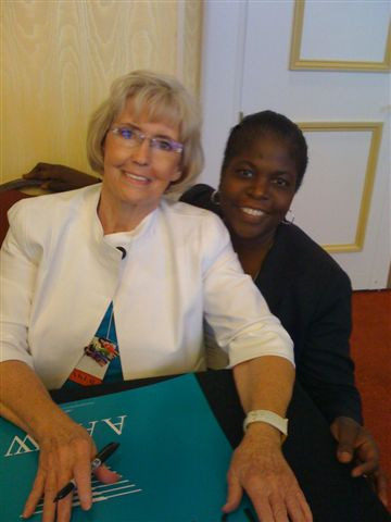 Lilly Ledbetter and Elmira Mangum at 2009 AAUW National Convention