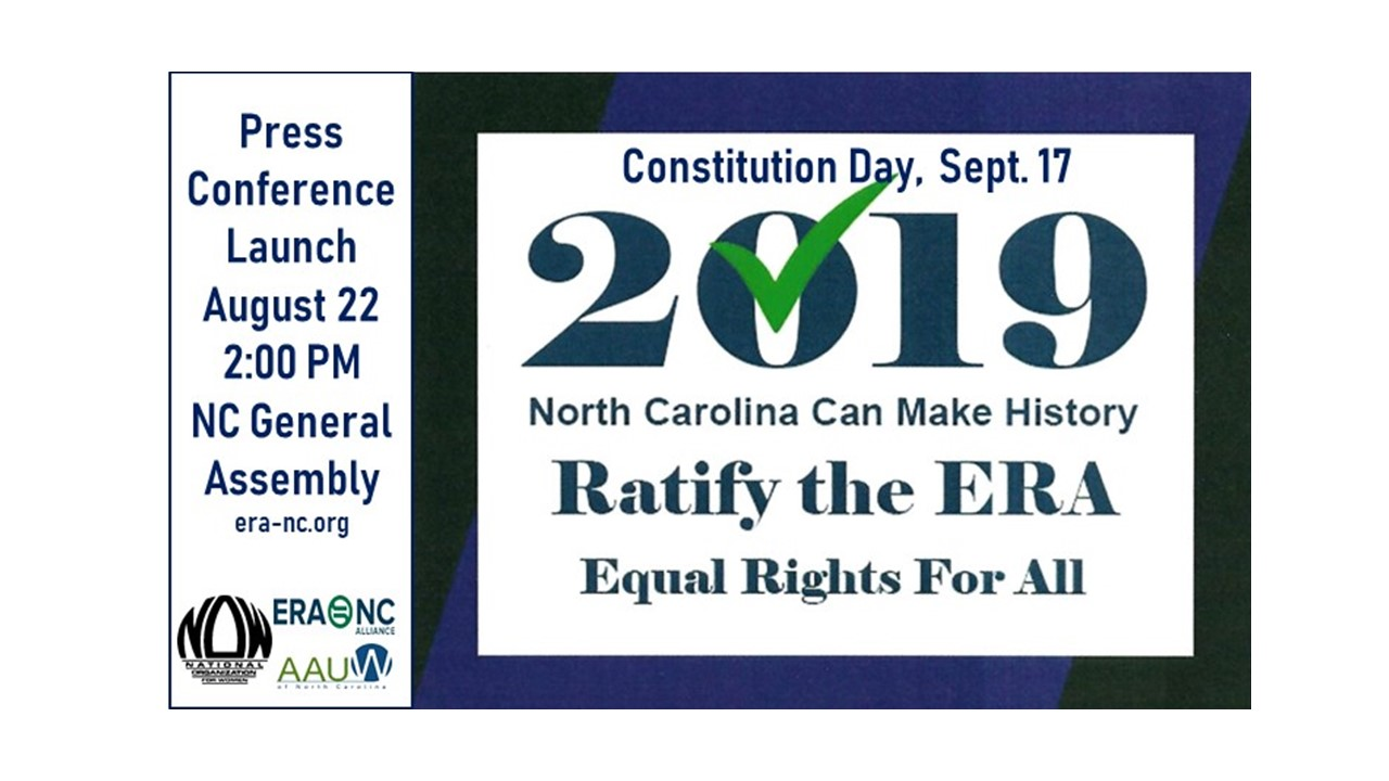 Press conference on 8/22/2019 to support the ERA
