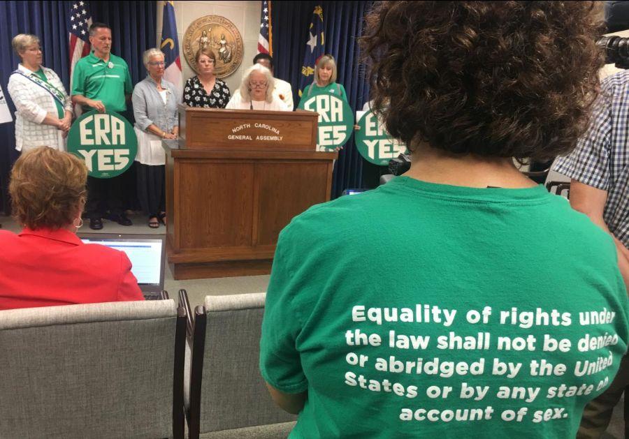Press conference at NC Legislature