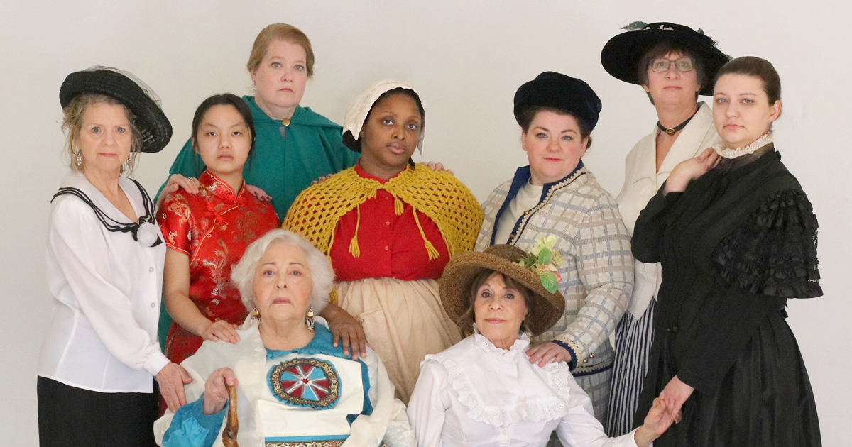 Cast of Sisters of Mine in Costume